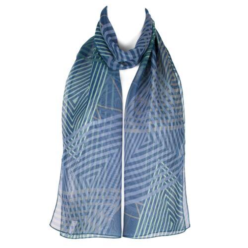 Chiffon Ladies Womens Geometric Print Scarf Shawl Wrap