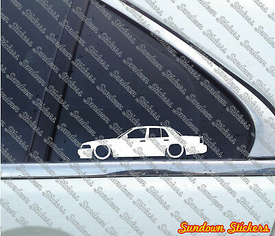 2x Lowered car outline stickers for Ford Crown Victoria LX sport 1998-2007