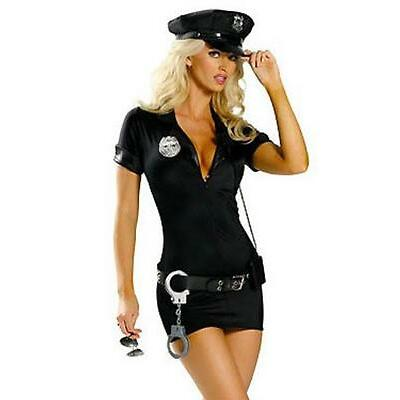 SEXY LENCERIA DISFRAZ POLICIA TALLA L (40) DISFRACES CARNAVAL HALLOWEEN (8040)