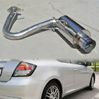 Fit 05-10 tC Stainless Axle back Exhaust Chrome Muffler 4