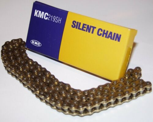219 gold//gold premium quality KMC Silent Chain 112 links