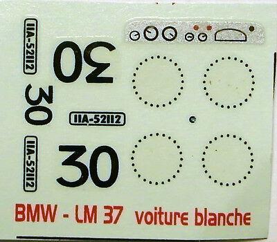 decals 1/43: BMW Le Mans 1937 N°30