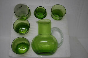 NEST-by-Tracy-Hudson-6-Piece-Water-Glass-Set-amp-Pitcher-with-Top-Hand-Crafted