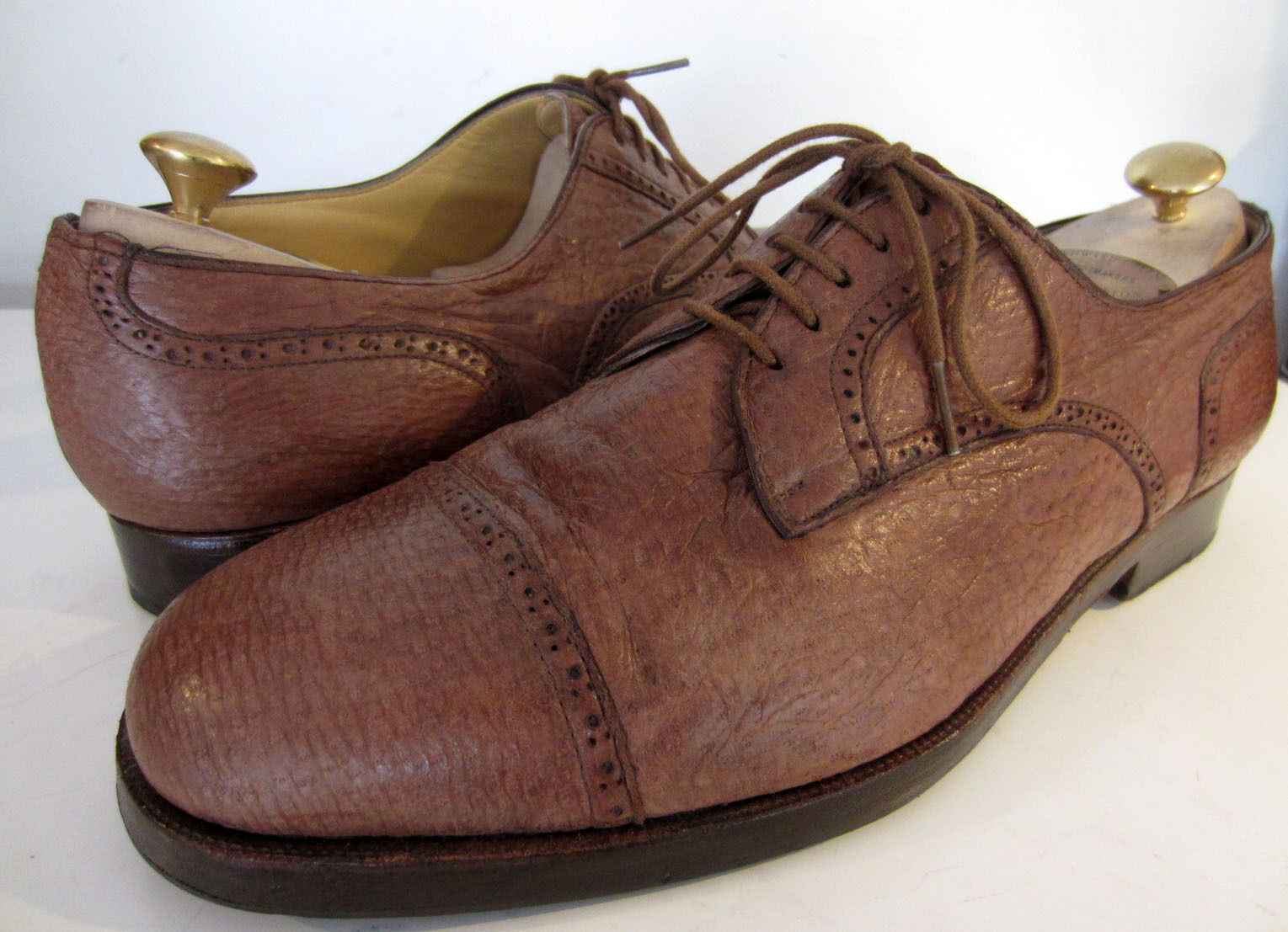Stemar Lace Honey Brown Oxford Cap Lace Stemar up Shoes UK 10 EU 44.5 Moreschi c4fcca