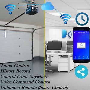 Wifi Garage Door Opener With Alexa And Google Home Smartphone App Iphone Android Ebay
