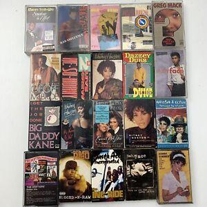 20 Cassette Tape Lot Rap R&B Pop