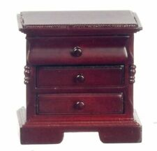 Mahogany ~ CLA10987 Dollhouse Miniature Night Stand Side Table with Drawers