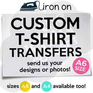 Custom-Iron-On-T-Shirt-Transfer-A6-Your-Image-Photo-Design-Hen-Stag-Personalised