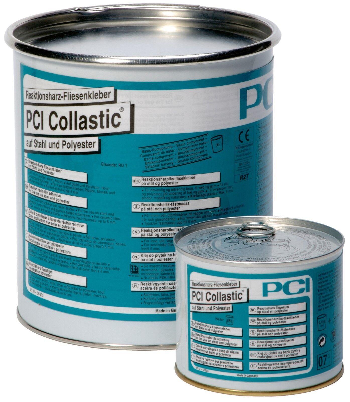 PCI Collastic 3kg Reaktionsharz-Fliesenkleber Fliesen Stahl Polyester Naturstein