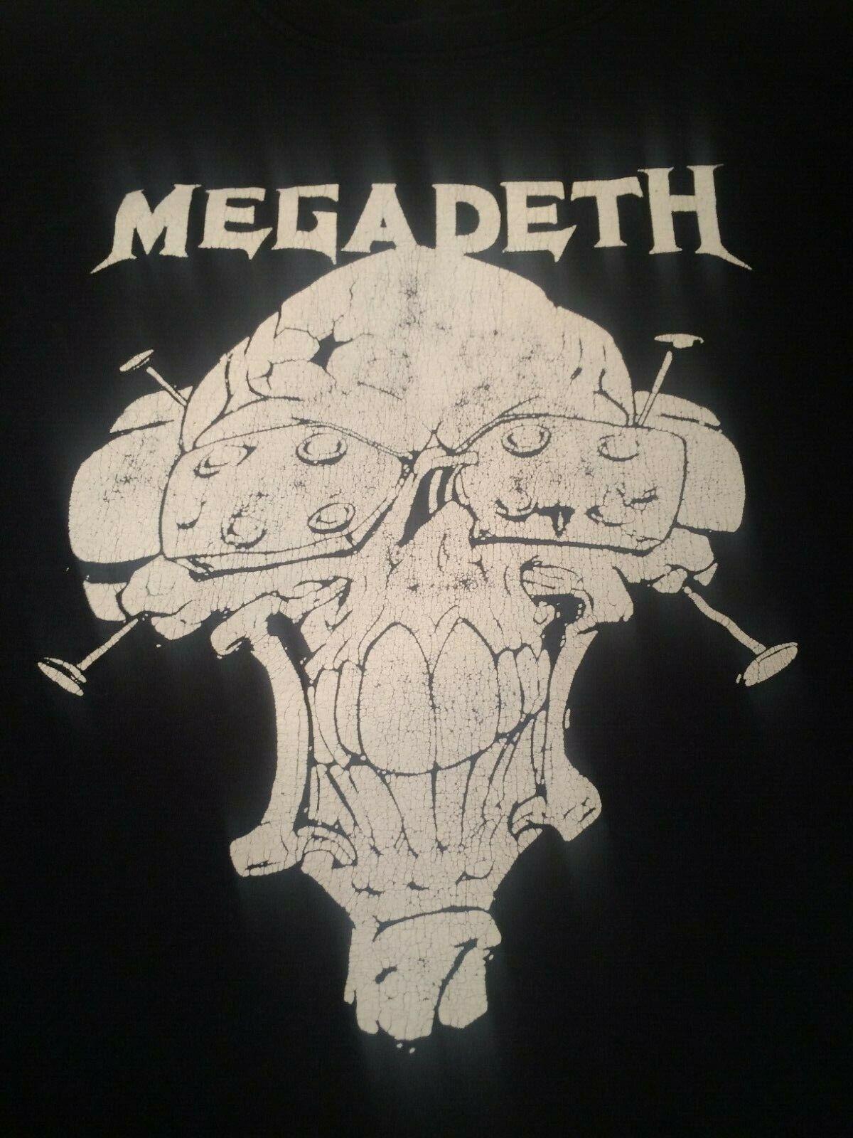 Vintage Megadeth T Shirt Fruit of the Loom Heavy Cotton 2XL