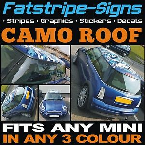 Mini Car Roof Camo Kit Graphics Stickers Decals Camouflage Vinyl One