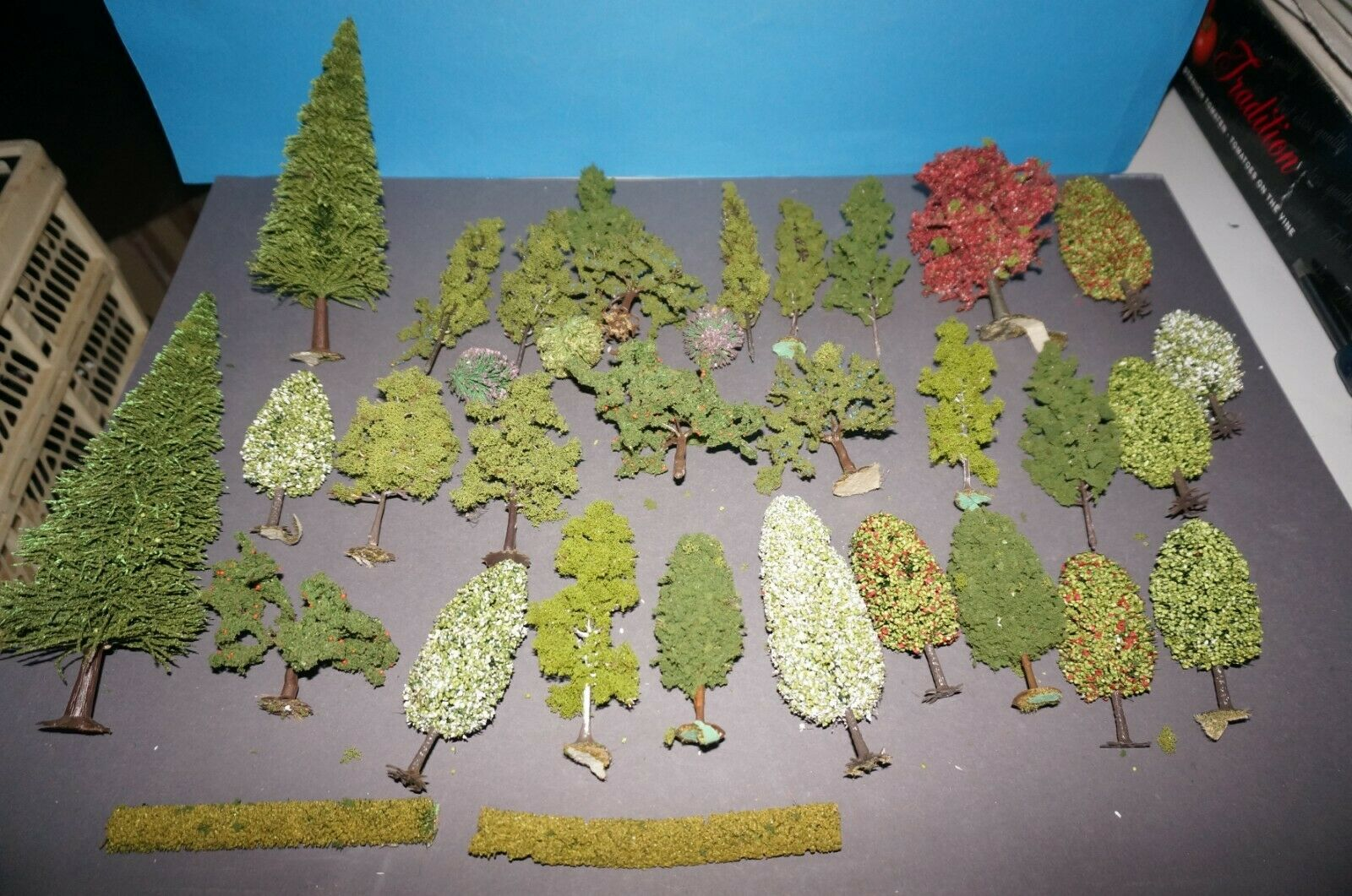 Mixed Forest Trees H0 Fir Leaves Fruit Trees Bushes 70 Trees Model Scenery