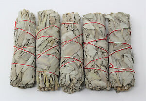 White-Sage-Smudge-Stick-4-034-Value-5-Pack-Bundle-House-Cleansing-Energy-Clearing