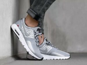 best service 36514 6d27d Image is loading New-Nike-Air-Max-Zero-QS-Metallic-Silver-