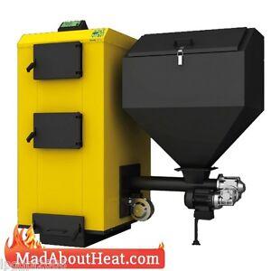 PBI 75kW Wood Pellet Boiler Fan Assisted Multi Fuel ...
