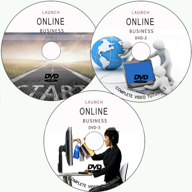 LEARN HOW TO LAUNCH ONLINE BUSINESS TRAINING TUTORIALS 3 DVD-DIGITAL PHOTOGRAPHY