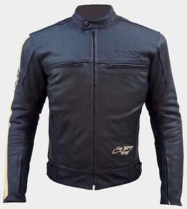 Giacca-Moto-Cuoio-Pelle-Uomo-Protezioni-CE-Termico-Rimovibile-Custom-Vintage