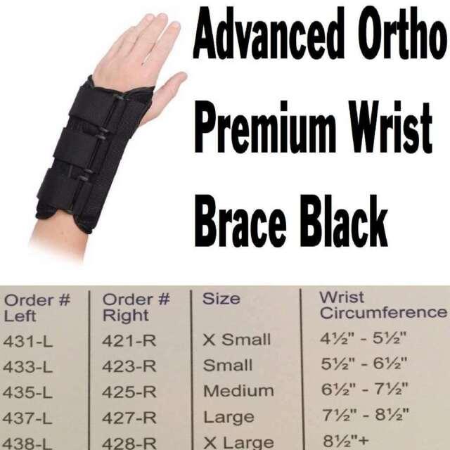 Advanced Ortho Premium Wrist Brace Black Right X-Large, New