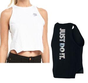 NIKE JDI Hologram Women s Tank New Crop Sports Top Soft Cotton Black ... 796fc8f6d2