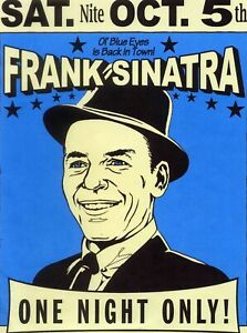 Details about Frank sinatra a - Concert VINTAGE BAND POSTERS Song Rock  Travel Old Advert #ob