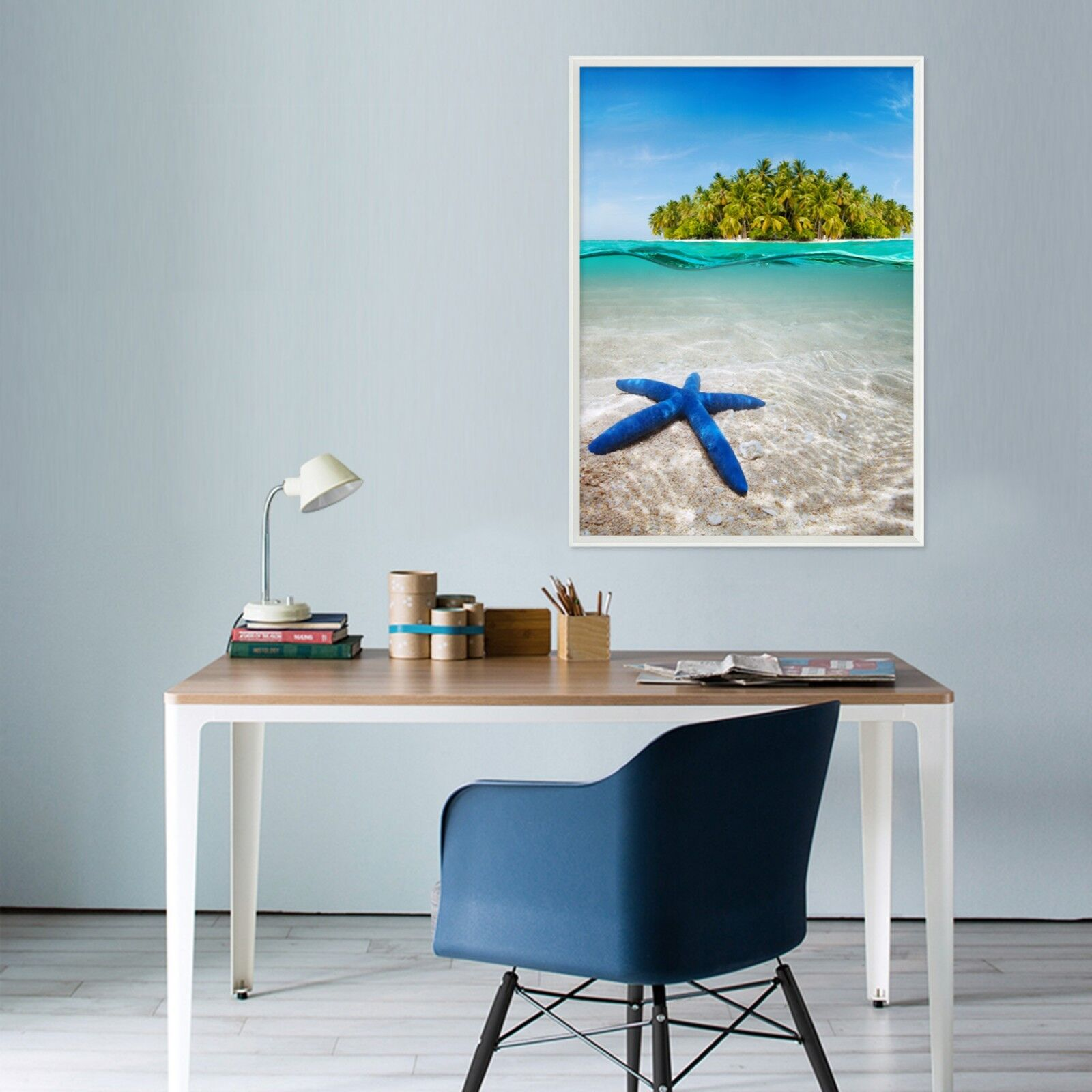 3D Starfish Jungle Island 1 Framed Poster Home Decor Drucken Painting AJ WandPapier