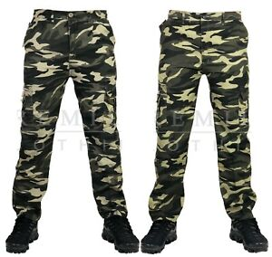Mens-Elasticated-Camouflage-Trousers-Cargo-Combat-Lightweight-Work-Pant-Bottoms