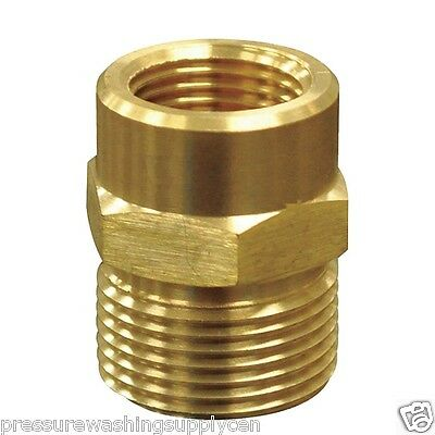 Brass Male M22 14mm To 3 8 Npt Female Adapter Power Washer Ebay
