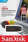 SanDisk Ultra CZ48 64GB USB 3.0 Flash Drive Transfer Speeds Up To 100MB/s 064gb