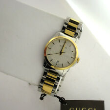 eb2756292e0 Gucci Swiss YA126563 G-Timeless Two Tone Stainless Steel Link Band Watch