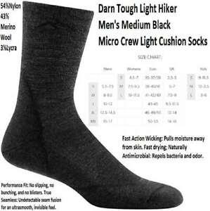 Hombre Darn Tough Hiker Micro Crew Cushion Calcetines