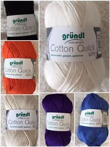 Das Bild wird geladen Cotton-quick-uni-gruendl-wolle-garn-50g-125m- 7a9062d83f