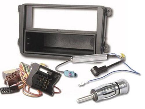 adaptador para VW Caddy desde 01//2004 DIN Juego completo radio diafragma