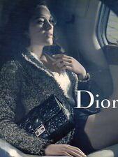 Publicité Advertising 2011  DIOR sac à main collection mode Marion Cotillard