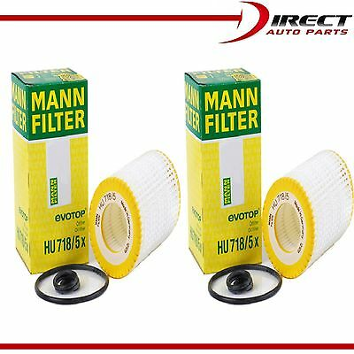 4 Pack Genuine OEM Mann Filter HU718//5x Oil Filter Fleece For Mercedes Benz