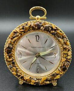 Vintage Phinney-Walker Alarm Clock Germany Tiger Eye Bezel Wind Up Glow in Dark