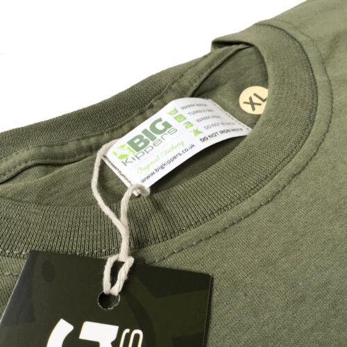 CARP HUNTER Olive Green Mens Cotton Original Fishing Angling Clothing T Shirt