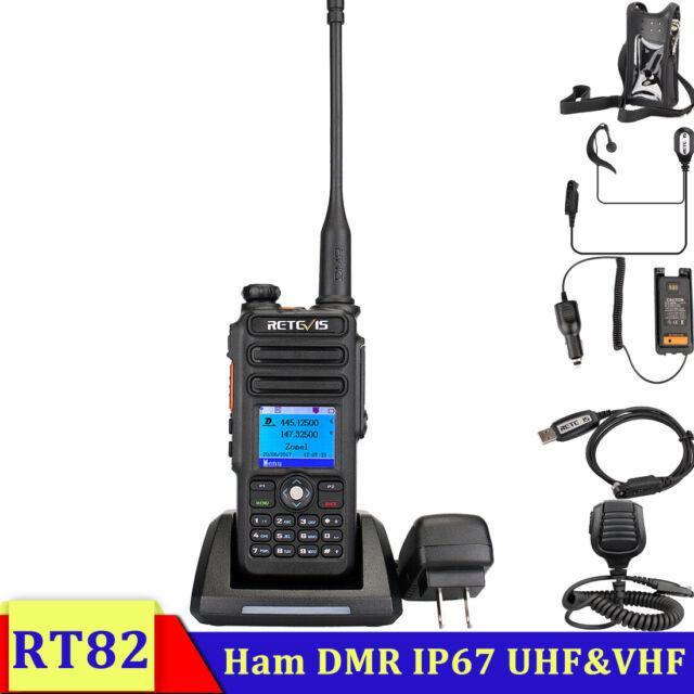 VHF DMR Digital 2200mAh 3000CH 2 Way Radio Retevis RT82 GPS Walkie Talkie UHF