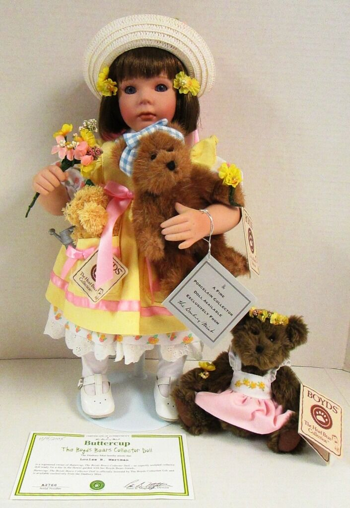2005 Danbury Mint Buttercup The Boyds Bear Collector Doll