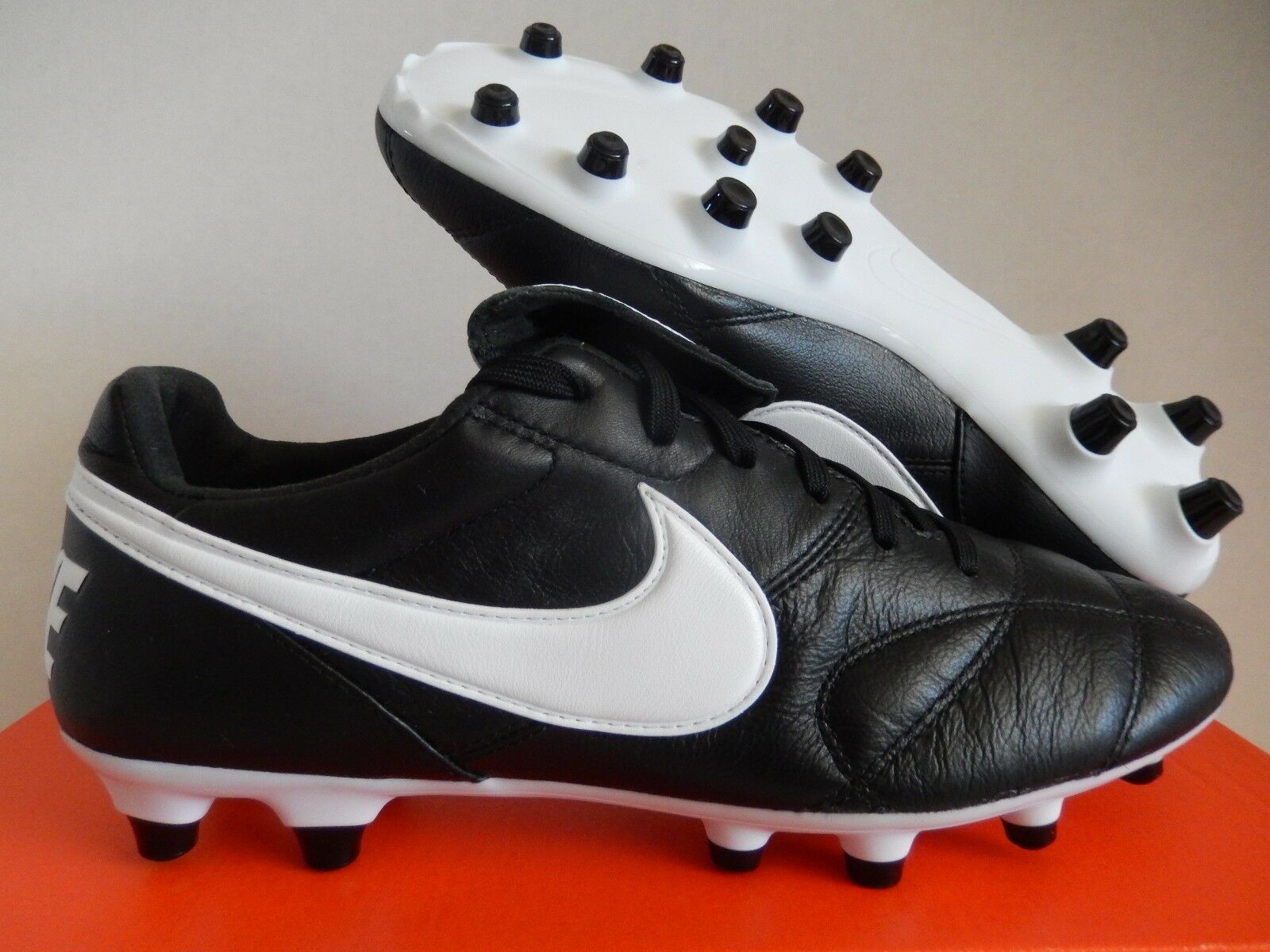 Nike premier ii fg tiempo tiempo tiempo fg känguru / ziegen - leder schwarz-wht sz 6,5 [917803-001] 68afe3