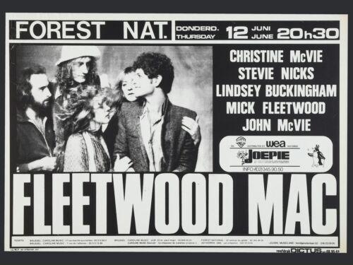 """Fleetwood Mac Belgian 16/"""" x 12/"""" Photo Repro Concert Poster"""