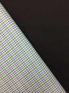 Plain Poplin Check Woven Polycotton Fabric Dress Craft Lining Shirting 150cm uk
