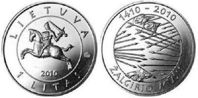 Lithuania 1 litas 2010 Battle of Grunwald UNC