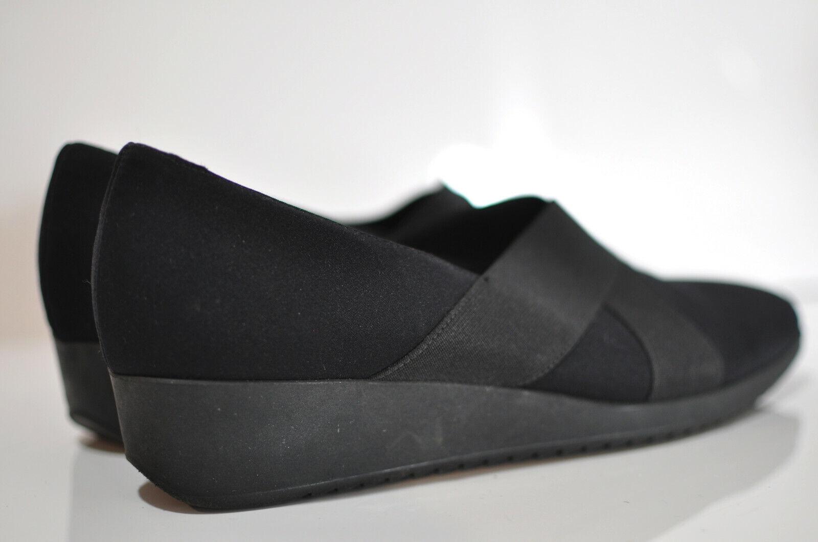 Munro American donna leather slip on wedge 9.5 M fatto in USA