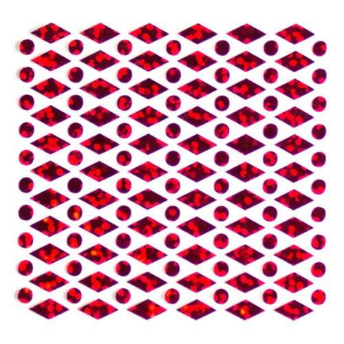 Holograma-perchas lentejuelas HotFix lentejuelas para plancha holograma rojo