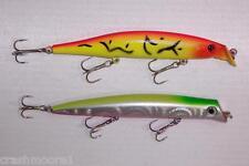 2pc FISHING LURES CRANKBAIT RATTLE BAIT TACKLE TREBLE HOOKS F13