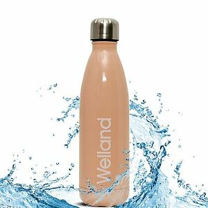 Pink-Water-Bottle-Flask-17oz-Vacuum-Insulated-Stainless-Steel-HEALTH-WELLAND