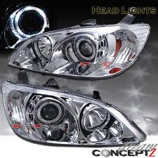2004-2005 Honda Civic 2dr Coupe 4dr Sedan Halo projector headlights chrome style