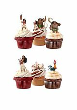 25 PRECUT PRINCESS MOANA STAND UP EDIBLE CUPCAKE TOPPER FAIRY CAKE TOPPERS
