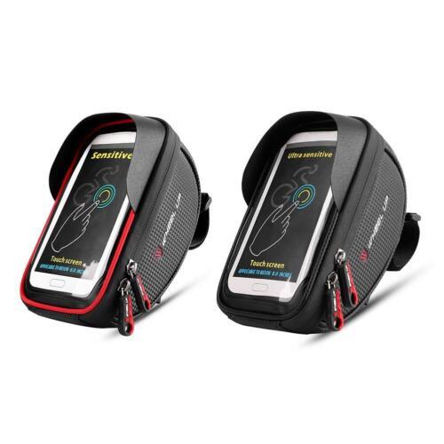 WHEEL UP Waterproof Bike Handlebar Bag Bicycle Front Tube Frame Phone Holder Bag