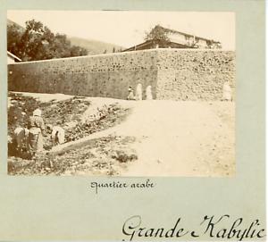 Algerie-Bejaia-Grande-Kabylie-le-quartier-arabe-Vintage-citrate-print-Ti
